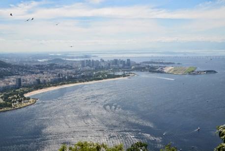 View of Flamengo and the city center from Pão de Açúcar in Rio de Janeiro, Brazil