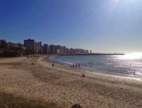 Praia de Meireles in Fortaleza, Brazil