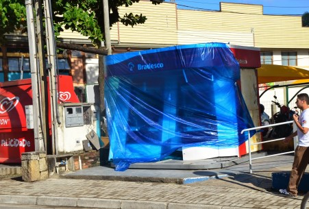 Bombed ATM in Ilhabela, Brazil