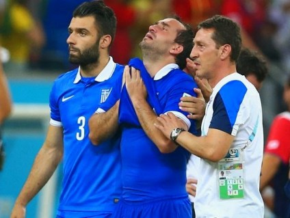 Theofanis Gekas after missing a penalty against Costa Rica in the 2014 World Cup (not my image)