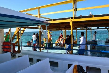 The boat in Maracajaú, Brazil