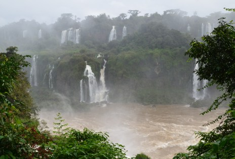 Along the Path of the Falls at Parque Nacional do Iguaçu in Brazil