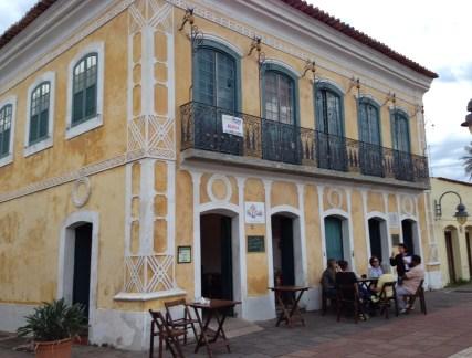 Colonial building in São Sebastião, Brazil
