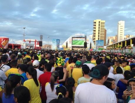 FIFA Fan Fest World Cup 2014 in Fortaleza, Brazil