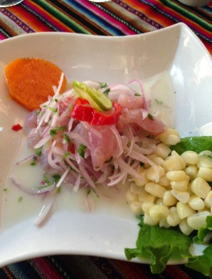 Ceviche pescado at Altar Mayor in Lima, Peru