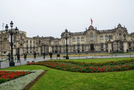 Palacio de Gobierno at Plaza Mayor in Lima, Peru