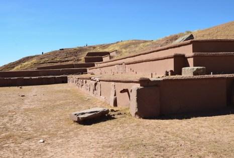 Akapana Pyramid at Tiwanaku, Bolivia