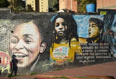 Graffiti art near Chorro de Quevedo in La Candelaria, Bogotá, Colombia
