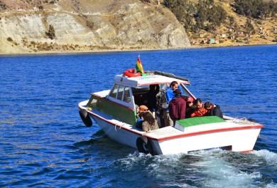 Passenger boat at San Pedro de Tique, Bolivia
