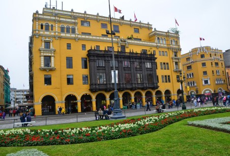 Portal de Botoneros at Plaza Mayor in Lima, Peru