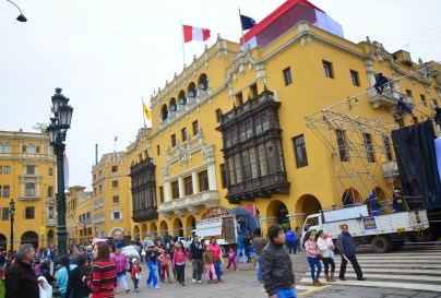 Palacio de la Unión at Plaza Mayor in Lima, Peru