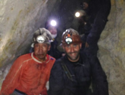 Me and Sapito (miners aren't photographers!) at Mina Santa Elena, Cerro Rico, Potosí, Bolivia