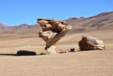 Árbol de Piedra at Reserva Nacional de Fauna Andina Eduardo Abaroa, Bolivia