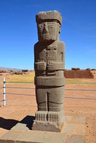 Monolith at Tiwanaku, Bolivia