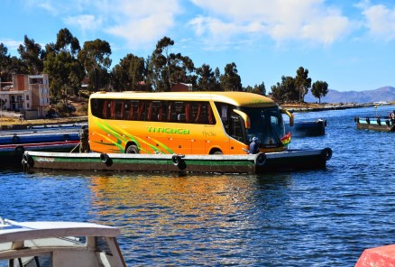 Bus barge at San Pedro de Tique, Bolivia