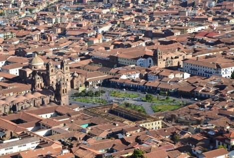 View of Cusco from Cristo Blanco in Cusco, Peru