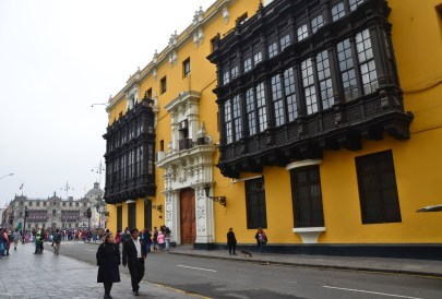 Palacio Municipal at Plaza Mayor in Lima, Peru