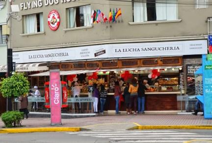 The main La Lucha at Parque Kennedy, Miraflores, in Lima, Peru