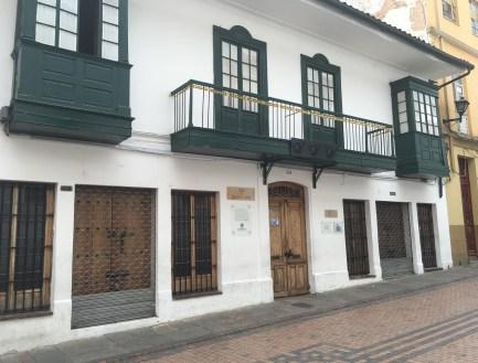 Casa de Manuelita Sáenz (Museo de Trajes Regionales) in La Candelaria, Bogotá, Colombia