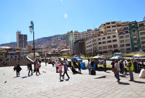 Plaza Mayor in La Paz, Bolivia