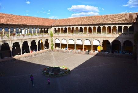 Courtyard of Convento de Santo Domingo in Cusco, Peru