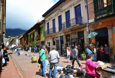 Calle 10 in La Candelaria, Bogotá, Colombia