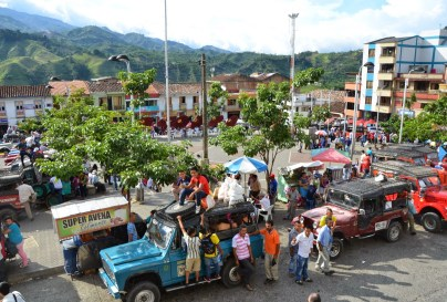 Plaza in Belén de Umbría, Risaralda, Colombia