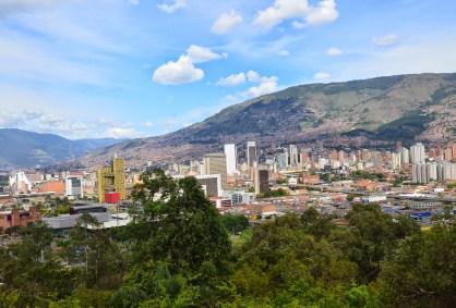 View of Medellín from Cerro Nutibara, Antioquia, Colombia
