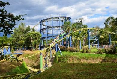 Rollercoaster at Parque Nacional del Café in Quindío, Colombia