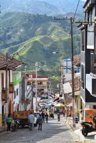 A street in Belén de Umbría, Risaralda, Colombia
