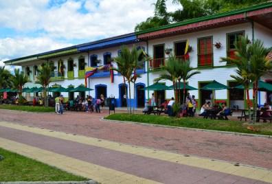 Restaurants at Parque Nacional del Café in Quindío, Colombia