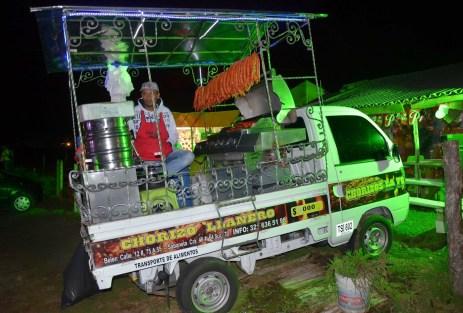 A chorizo truck at the Tour de los Silleteros in the Feria de las Flores, Medellín, Antioquia, Colombia