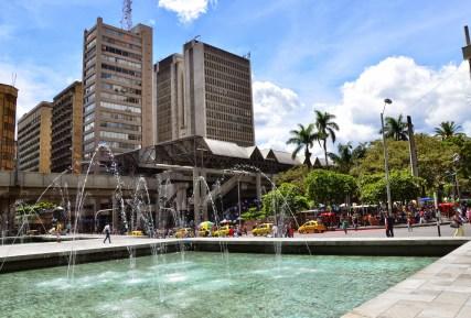 Parque Berrío in Medellín, Antioquia, Colombia