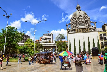 Plaza Botero in Medellín, Antioquia, Colombia
