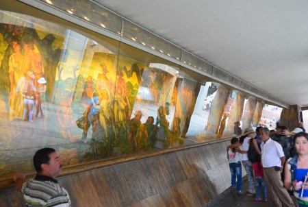 Mural under the metro station in Medellín, Antioquia, Colombia