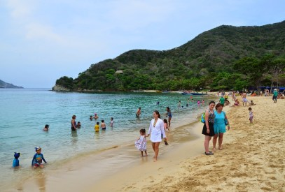 Playa Cristal at Tayrona National Park in Colombia