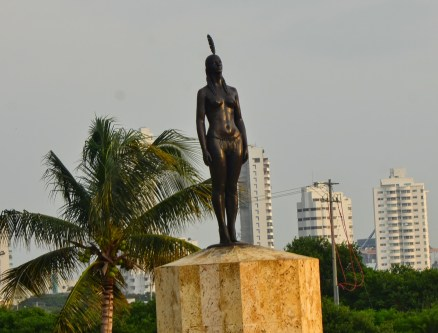 India Catalina monument in Cartagena, Bolívar, Colombia