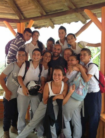 With some of my students in Taparcal, Belén de Umbría, Risaralda, Colombia