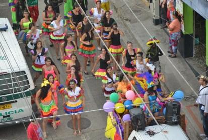Carnaval de Barranquilla at the parade in Belén de Umbría, Risaralda, Colombia