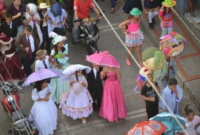 Carnaval de Negros y Blancos at the parade in Belén de Umbría, Risaralda, Colombia