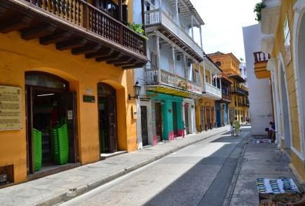 A street in El Centro, Cartagena, Bolívar, Colombia