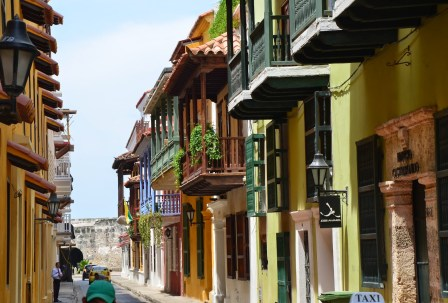 A street in San Diego, Cartagena, Bolívar, Colombia