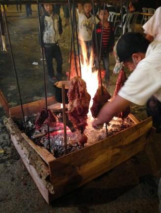 Meat from Los Llanos at the fiesta in Belén de Umbría, Risaralda, Colombia