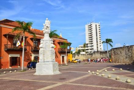 Plaza de la Aduana in El Centro, Cartagena, Bolívar, Colombia