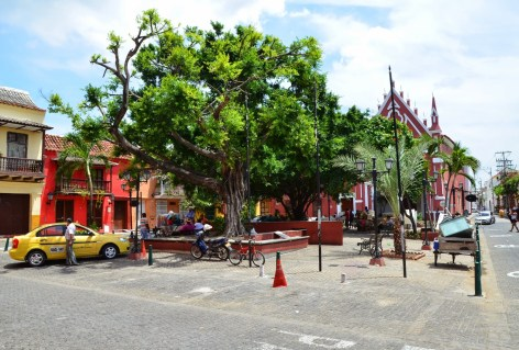 Plaza de San Diego in San Diego, Cartagena, Bolívar, Colombia