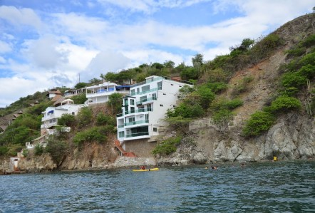 Home on the boat ride to Playa Grande in Taganga, Magdalena, Colombia