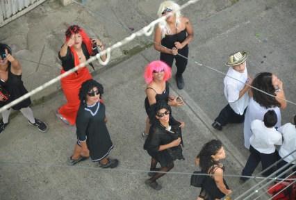 Carnaval de Barranquilla - Men in drag at the parade in Belén de Umbría, Risaralda, Colombia