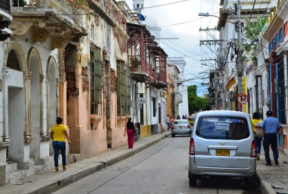 A street in Santa Marta, Magdalena, Colombia