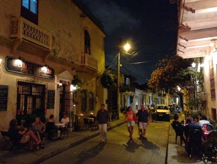 Getsemaní at night, Cartagena, Bolívar, Colombia