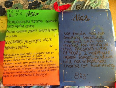 Letters from students at Nuestra Señora del Rosario in Belén de Umbría, Risaralda, Colombia